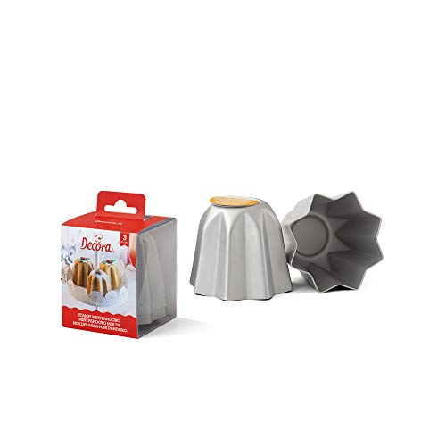 Decora 0062684 Backform für Mini-Pandoro, eloxiertes Aluminium, 7.5 X 6.5 cm, 3 Stück