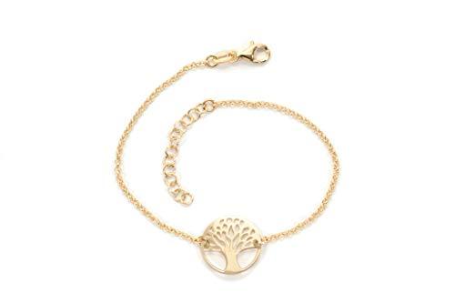 MAGICMOON - Mod. VTP10000322 - Delizioso bracciale donna argento 925 rodiato con ciondolo albero della vita color oro