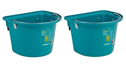 Cajou 2 x Transportkrippe mit Einhängebügel und Henkel zum Tragen (Aqua)