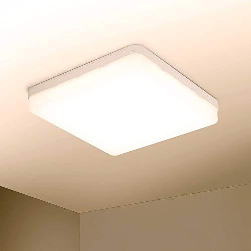 Yafido LED Lámpara de techo 36W Moderna Plafón LED luz de techo Cuadrado delgada 3240lm Blanco Cálido 3000K para Dormitorio Cocina Sala de estar Comedor Balcón Pasillo