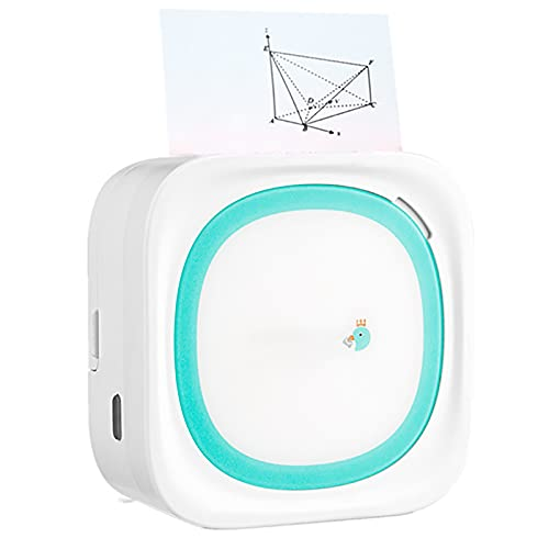 CDMA Mini Impresora de Bolsillo, Impresora de Bolsillo inalámbrica sin Tinta, Mini Impresora de Etiquetas con Papel térmico Autoadhesivo, Impresora portátil para teléfonos Inteligentes iOS/Android