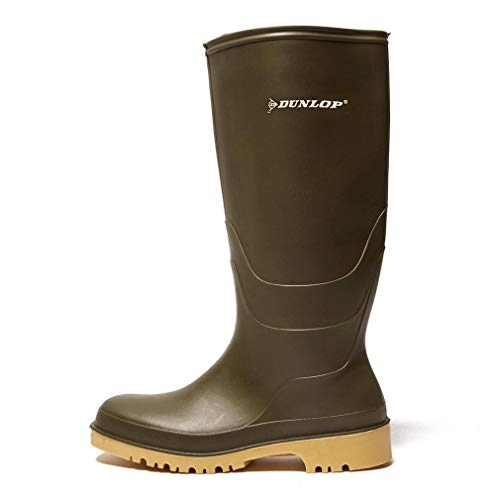 Dunlop Protective Footwear Unisex-Erwachsene Dunlop Dull Gummistiefel, Grün, 35 EU