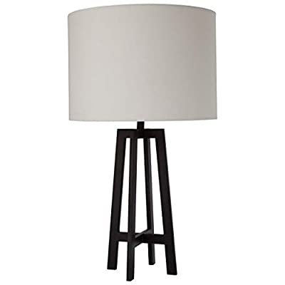 Black Art Deco Style Table Lamp