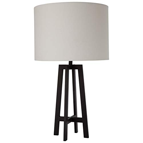 Art Deco-Inspired Metal Frame Lamp