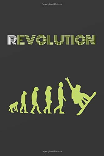 REVOLUTION: BLANK LINED NOTEBOOK. SNOWBOARD JOURNAL. PERSONAL DIARY. ORIGINAL GIFT. BIRTHDAY PRESENT.
