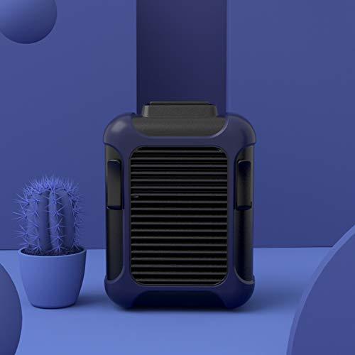 WOCAO In der Taille hängender Ventilator USB-Powerbank Outdoor-Hüftaufhänger tragbarer Kleiner Ventilator mit hängendem Hals Dunkelblau