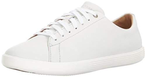 Cole Haan Women's Grand Crosscourt II Sneaker, Bright White Leather/Optic White, 7