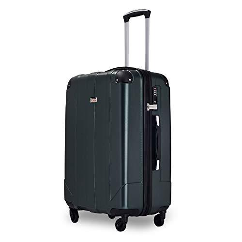 Zebery Maleta, carcasa rígida de viaje, maleta con ruedas, maletín giratorio con cerradura TSA y asas, verde oscuro (Verde) - ORDE-PP193249GAA