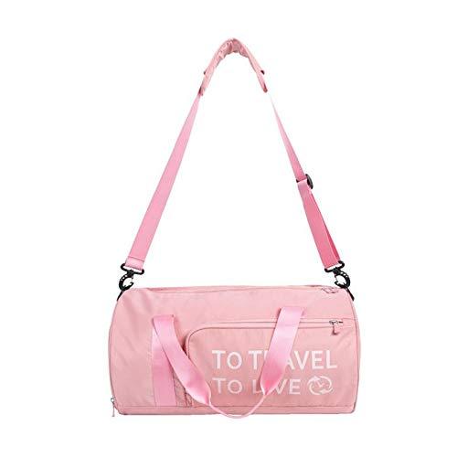 Bolsa de Viaje Gym Bag FFlion con Correa de Hombro Extraíble para Mujeres y Hombres (rosa(pink))