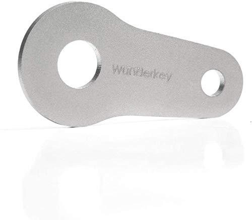 WUNDERKEY ® Einkaufswagenlöser – abziehbarer Einkaufswagenchip aus Edelstahl/Metall – 100% Made in Germany [Schlüsselanhänger | Smart-Tool | Mini Gadget | Einkaufschip | Accessoire | Add-On]
