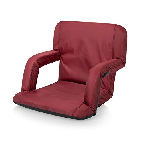 ONIVA - a Picnic Time brand Portable Ventura Reclining Stadium Seat for Bleachers, Burgundy