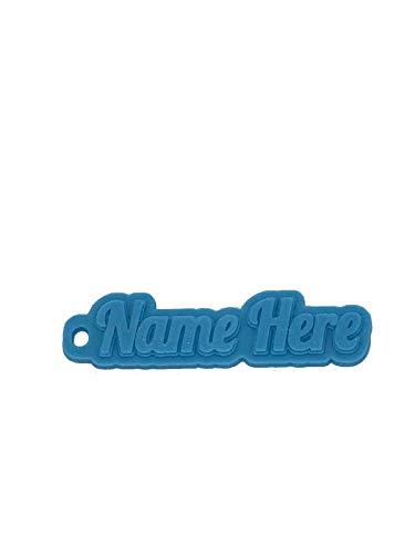 Llavero 3D de goma con nombre personalizado