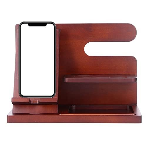 Soporte para teléfono celular, exquisita mano de obra, organizador de tableta de apariencia retro de alta gama para sala de estar, sala de estudio, oficina, dormitorio