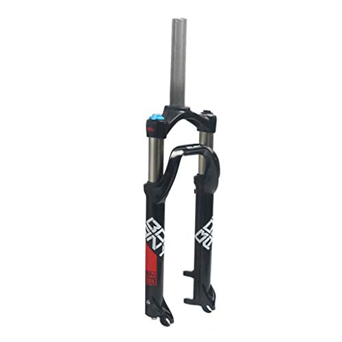 Suspension Fork 26 Inch, Mountain Bike 1-1/8'' Lightweight Aluminum Alloy MTB Cycling Disc Brake Shoulder Control Travel 100mm
