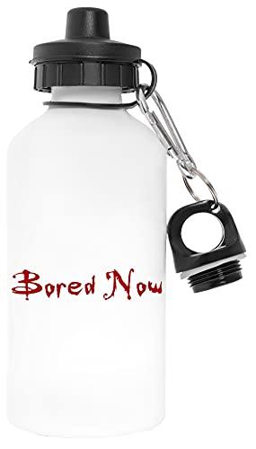 Bored Now Libre de Contaminantes Blanco Botella De Agua Aluminio Para Exteriores Pollutant Free White Water Bottle Aluminium For Outdoors