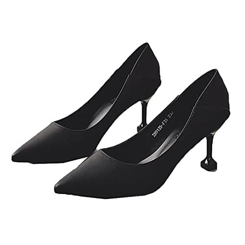 Vestido de Mujer, Bombas de Noche, Deslizamiento en Tacones Bajos, Elegantes Zapatos de Corte, Primavera otoño, Puntiagudos, clásicos, Tacones Altos