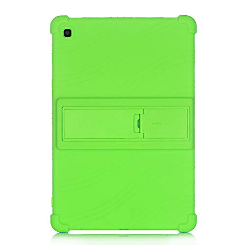 Oneyijun Green Stand Silicone Skin Pouch Protection Case Protective Cover Case for Samsung Galaxy Tab S5e T720 T725 10.5 inch Tablet