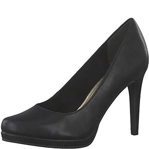 Tamaris Damen Pumps 22474-24, Frauen Plateaupumps, Plateau-Sohle Plateauschuhe Abendschuhe elegant Party high Heels Damen,Black MATT,40 EU / 6.5 UK