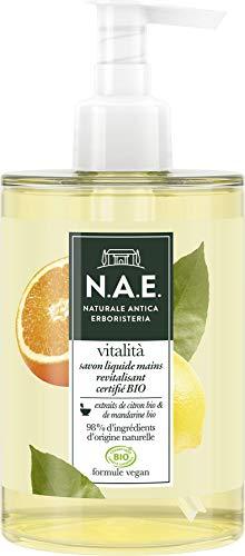N.A.E. - Savon Liquide Mains - Certifié Bio - Revitalisant - Vitalita - Formule Vegan - 98 % d'ingrédients d'origine naturelle - Contenant de 300 ml
