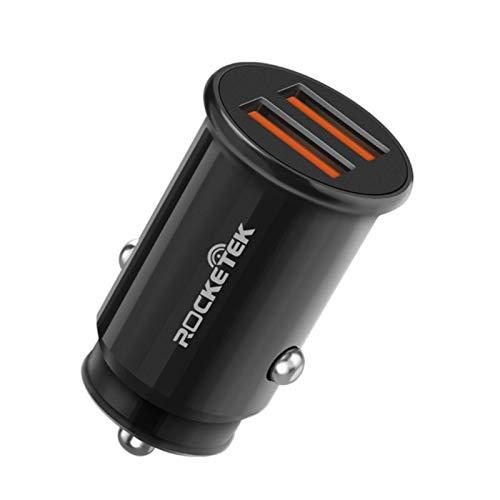 Adaptador de Cargador Para Automóvil - Mechero USB Ultracompacto de 2 Ranuras Para Teléfonos de Vehículos (12V / 24V)