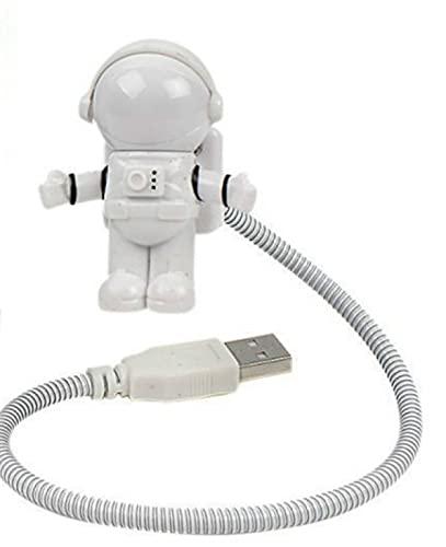 WWEER Mini Lectura Luz Super Linda Mini USB Astronauta LED Luz de luz de luz USB Lámpara de Lectura de luz(un Spaceman)