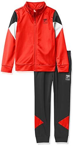 PUMA Boys' Track Jacket & Pant, Red, 6