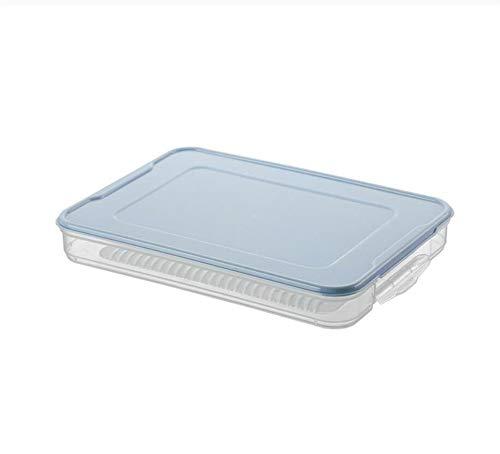 Diepgevroren bollen met deksel enkellaags huishoudenvoedsel koelkast opbergdoos gebracht bollen in de bevroren box scherper (Color : C, Size : 30.5 * 22 * 4cm)