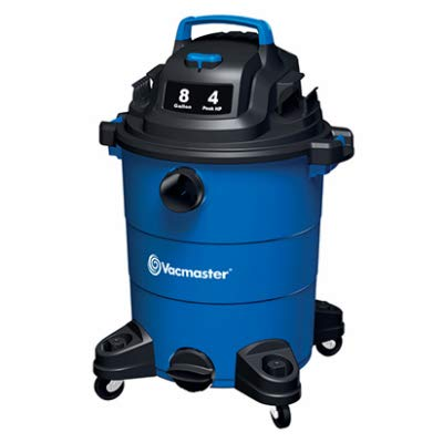 Vacmaster Wet Dry Vacuum 4 Peak HP 8 Gallon Shop Vacuum Portable Lightweight with 14.9KPa Powerful Suction for Dog Hair,Car,Garage,Workshop