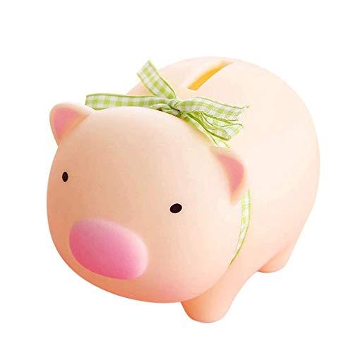 GJRFYJ Linda hucha de cerdo, adorable banco de cerdo de juguete de banco de monedas decorativa de ahorro de dinero Banco adorable figura de cerdo para niño