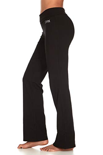 UNIQUE STYLES ASFOOR Yoga Pants for Women Bootcut High Waist Fold Over Workout Cotton Leggings