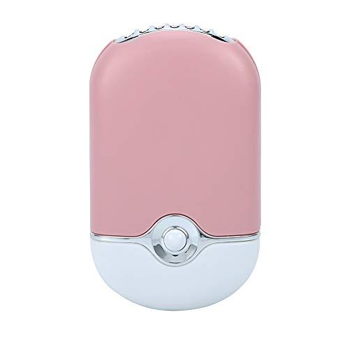 KSTE Cil Fan, Personal Mini Portable Ventilateur, Refroidissement USB Mini Ventilateur, climatisation cil Extension Colle Rapide Outil Dry Rose