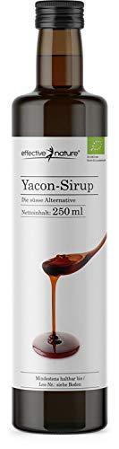 effective nature Yacon-Sirup – 100 % naturbelassen und in Bio-Qualität, Vielseitige, leckere Zuckeralternative aus dem beliebten Anden-Gewächs, Angenehme Süsse, 250 ml
