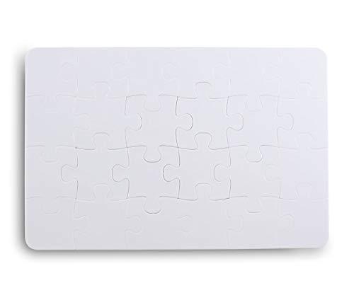 Kopierladen Blankopuzzle aus Kunststoff zum selbst gestalten und verzieren, 24 Teile (ca. 19 x 13 cm) - Leeres Kunststoffpuzzle - Robust und langlebig