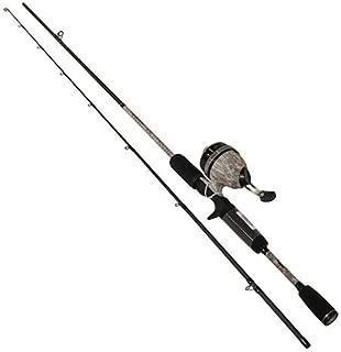 Lews Fishing, American Hero Camo Speed Spin Spinning Combo, 3;:1 Gear Rtio, 6' Length, 2 Piece. Medium Power, Ambidextrous