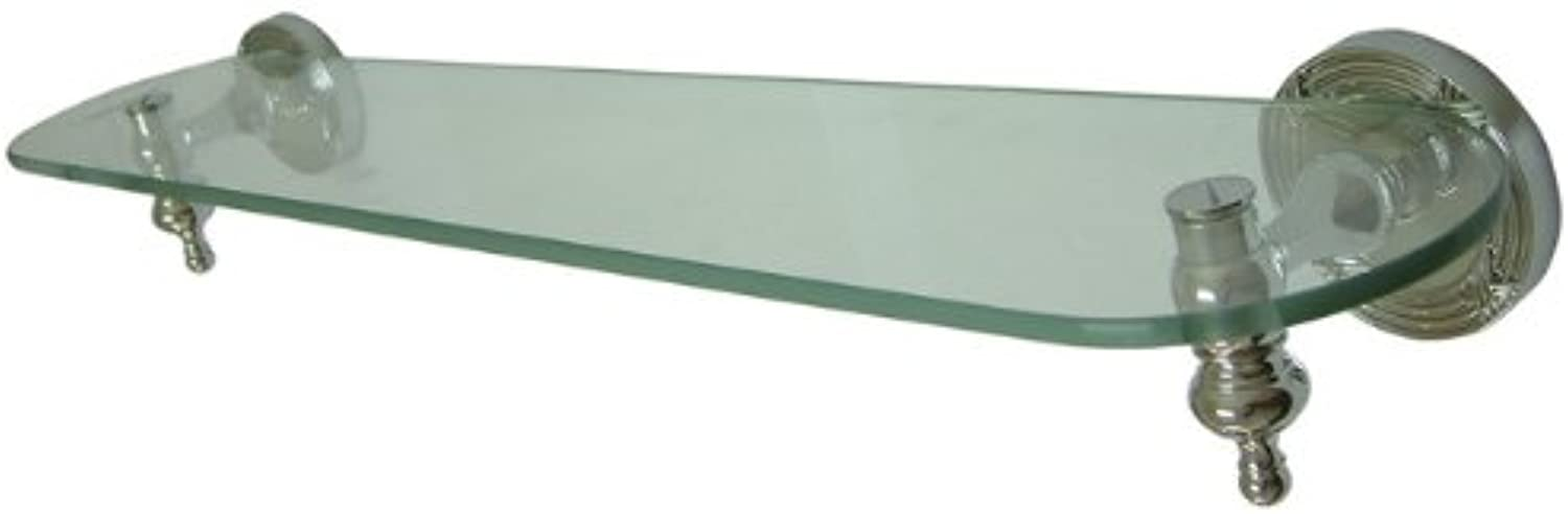 Kingston Brass BA9919C Templeton Glass Shelf, Polished Chrome