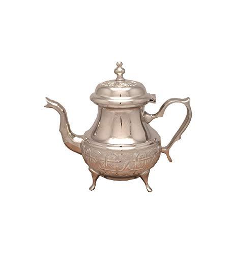 Marokkanische Teekanne Fes mit Beinen-M