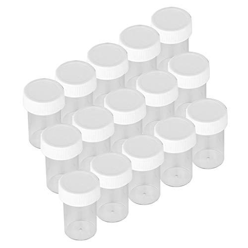 perfeclan 15x Multi-usages Pot Vide Cosmétiques avec Couvercle | Contenant Rechargeable pour Echantillon/Paillette/Crème/Baume à Lèvres