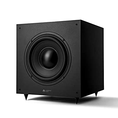 Cambridge Audio SX-120 Subwoofer Speaker For Home Cinema Sound System And Hifi System - Deep, Rich Bass With Smooth Frequency Response - 230V UK/EU (Matt Black) by Cambridge Audio