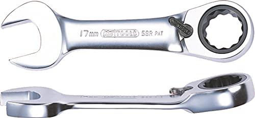 KS TOOLS 503.4637 Clé mixte courte à cliquet réversible GEARplus, 14 mm
