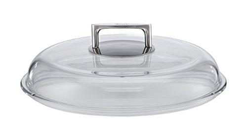 RÖSLE SILENCE Borosilikat Glasdeckel, Hochwertiger Pfannendeckel mit Griff aus Edelstahl 18/10, 28 cm, Temperaturbeständigkeit bis 260 °C, Spülmaschinengeeignet
