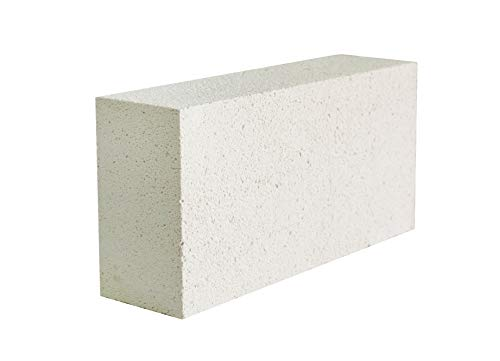 """Executive Deals Insulating Fire Brick for Ovens, Kilns, Fireplaces, & Forges - 9"""" x 4.5"""" x 2.5"""" (Inch) - Single Fire Brick, 2300F"""