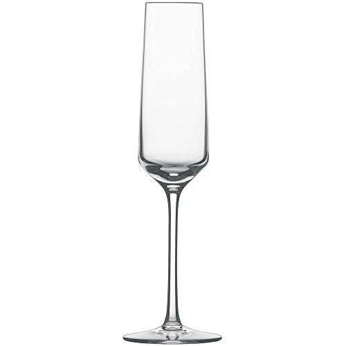 Schott Zwiesel 112415 Serie Pure 6-teiliges Sektglas Set, Kristallglas