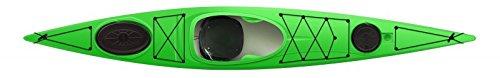Tahe Marine Fit 147 PE preiswertes Tourenkajak Seekajak Freizeitkajak mit Ruder, Farbe:Grün, Ausstattung:Mit Ruder