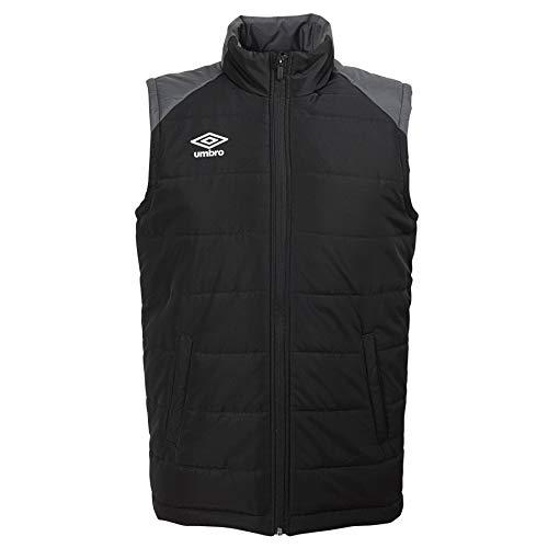 UMBRO Unisex-Erwachsene Padded Gilet Vest Jacket Gepolsterte Weste Jacke, Schwarz/Carbon, medium