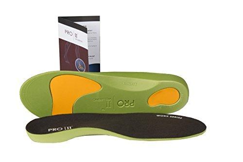 Pro11 wellbeing WorX Series - Solette plantari per fascite plantare e cedimento della volta plantare, disponibili in tutte le taglie nero 4.5-6