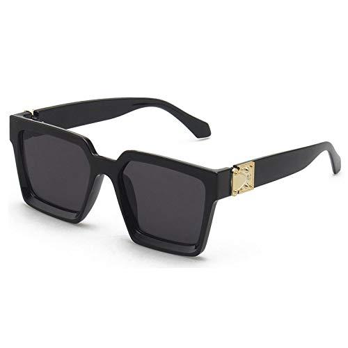 Moda Gafas Cuadradas De Gran Tamaño De Lujo para Hombres, Gafas De Sol A La Moda para Mujeres, Gafas De Sol Vintage, Gafas Retro para Exteriores para Hombre, 1