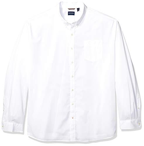 dockers Herren Big and Tall Long Sleeve Comfort Flex Shirt Button Down Hemd, Papier weiß, 3X-Groß