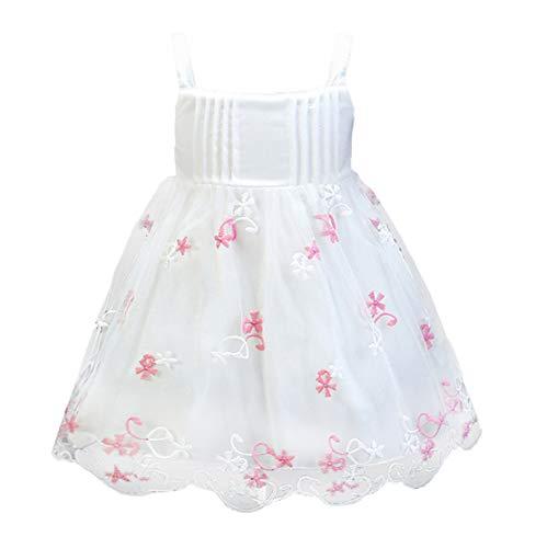 Mama stadt Kleider für Baby Mädchen Blumenstickerei Geburtstag Hochzeit Spitzenkleid Prinzessin Festzug Taufkleid Partykleid/100