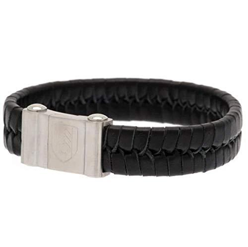 Fulham F.C. Armband aus geflochtenem Leder.