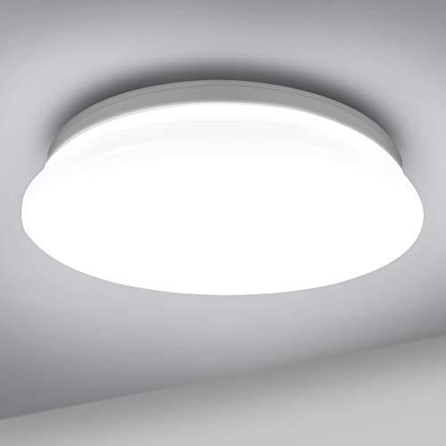 LE 18W Deckenlampe, 5000K LED Deckenleuchte, 1200LM Ø28cm Lampe Ideal für Badezimmer Balkon Flur Küche Wohnzimmer Schlafzimmer, Kaltweiß Licht Badezimmerlampe,Rund Leuchte Badleuchte,IP20 Badlampe